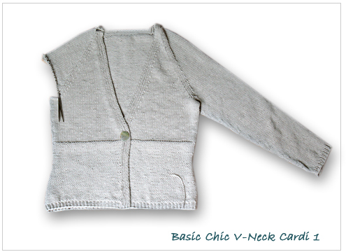 Chic Knits Basic Chic V-Neck Cardi