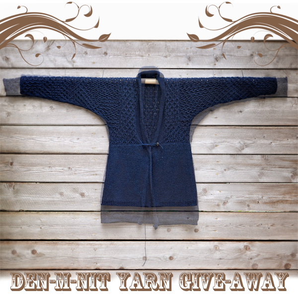 Denim Yarn Lace Cardi