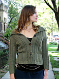 Chic Knits Ariann Chevron Lace Cardigan