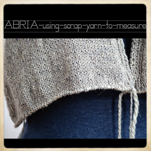 Knitting Tips: How to Measure a Sweater Using Scrap Yarn